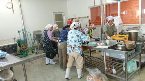 横川支部 焼肉のたれ作り