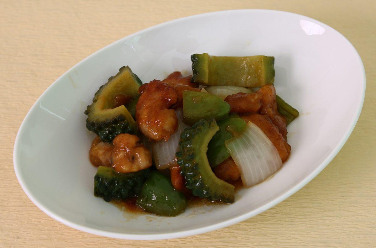 ゴーヤーのスタミナ酢豚(あいらいくレシピ)
