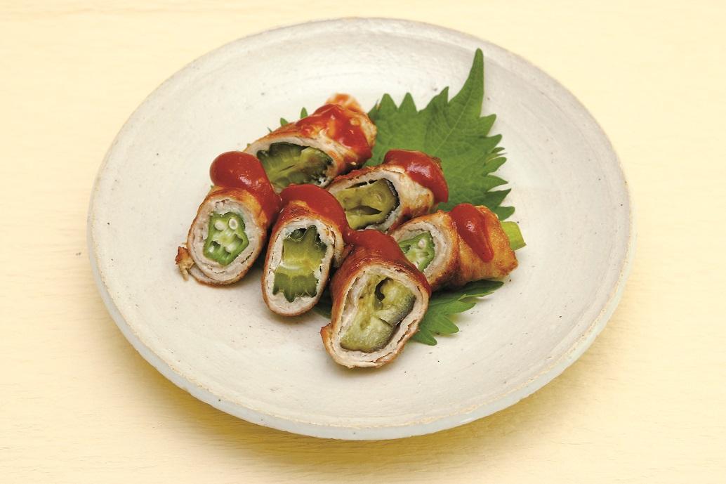 夏野菜の肉巻き(あいらいくレシピ)